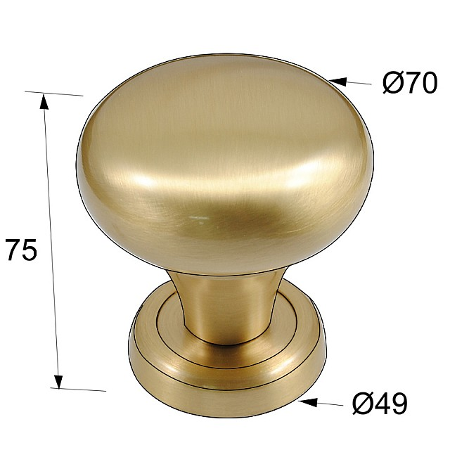 DOOR KNOB / MAT GOLD